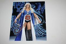 WWE WOMENS DIVAS CHAMPION CHARLOTTE FLAIR SIGNED AUTO 8X10 PHOTO ENTRANCE POSE