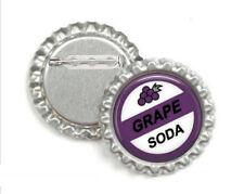 1 Grape Soda Silver Bottle Cap Button Pin