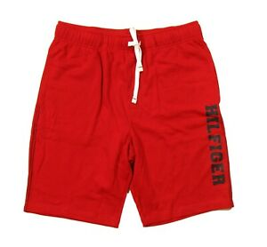 Tommy Hilfiger Sleepwear Men's Mahogany Red Logo Print Lounge Sleep Shorts