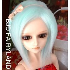"6-7"" 16cm BJD doll fabric fur wig light blue for 1/6 SD Doll Dollfie antiskid"