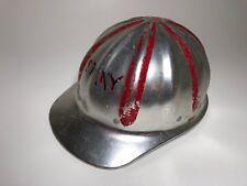 Superlite Fibre Metal Vintage Hard Hat Red Black Paint Made in Usa