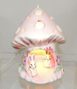 Attractive & Rare - Pretty Little Ceramic Rabbit Lamp   - Thames Hospice