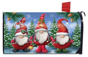 Winter Gnomes Christmas Magnetic Mailbox Cover Santa Hat Briarwood Lane