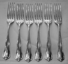 """6 DINNER FORKS 7 1/2"""" LONG PURITAN BY FRANK WHITING STERLING"""