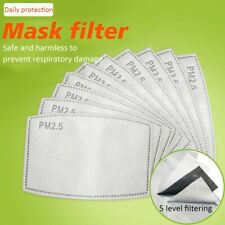 10x PPE Filter Activated Carbon Filter PM 2.5 , 5 Layered Filtering 95% Filters