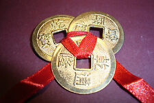 Chinese,Feng Shui,Metal Lucky Coins,~set of 3 large 25mm~uk seller~