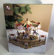 1998 Village Square Musical Carousel Brand New!