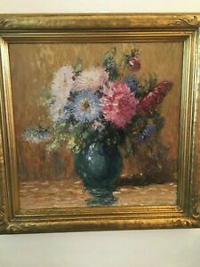 Gustave Wiegand Beautiful Still Life Painting Signed Lower Right  MB73