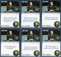 Star Trek TOS Archives & Inscriptions card #57 Nilz Baris all 14 different Var