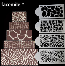 4pcs stencil for cake drawing animal skin