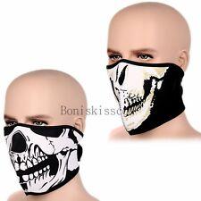 Black Seamless Headband Bandanna Headwear Skull Face Wrap Tube Mask Scarf