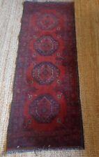 """Lovely oriental 100% wool runner rug 54"""" x 20.5"""""""
