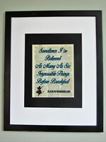 Alice In Wonderland Quote On Upcycled Vintage Dictionary Page Wall Décor Nursery