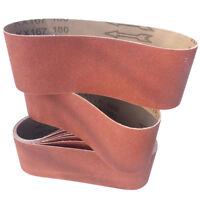 10 Schleifbänder 75 x 533mm Schleifband Gewebebänder Bandschleifer Korn P60