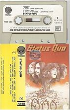 STATUS QUO cassette K7 tape STATUS QUO france french 7138 060 paper label