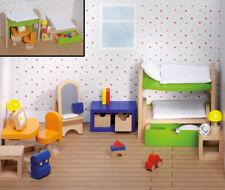 Puppenhausmöbel KINDERZIMMER modern Puppenhaus Puppenstube Puppenmöbel Kinder