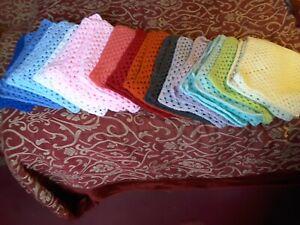 Crocheted pet/dolls blanket/bench warmer. Handmade mixed colours & yarns list #1