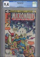 MIcronauts #8 CGC 9.4 1980 Marvel Comics Michael Golden Cover Fantastic Four App