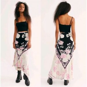 NWT FREE PEOPLE AFTER HOURS FLORAL MAXI SKIRT SIZE LARGE