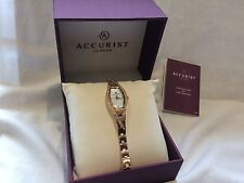 Ladies Accurist 8030 Rose gold Crystal set dress watch RRP £99.99
