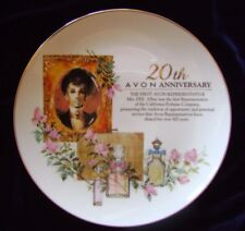 Avon Representative Award 20th Anniversary Plate 22k Gold Porcelain Mrs Albee