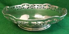 MAPPIN & WEBB STERLING SILVER CUT WORK FLORAL EDGE BOWL - HALLMARKED 1943