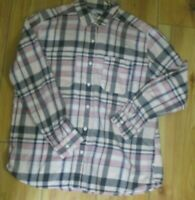 The North Face Women's Pink Plaid Shirt Size Large Button Up Long Sleeve