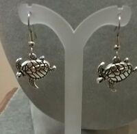 sea turtle dangle earrings