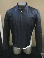 STREET LEGAL by Wilson's B&W Leather Cafe Racer Motorcycle Jacket Men's Size L