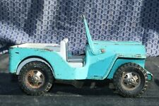 Tonka Toys Pressed Steel Light Blue Jeep - Made In Canada