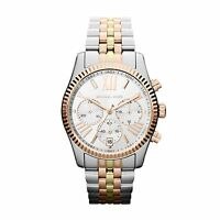 NEW MICHAEL KORS MK5735 LADIES TRI TONE LEXINGTON WATCH - 2 YEARS WARRANTY