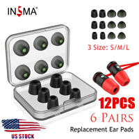 12pcs Ear Memory Foam Tips Earbud Covers Replacement Silicone Tip Earbuds + Case