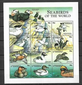 DOMINICA STAMPS- Sea birds of the world, set of 12 stamps in m/sheet , 2016**