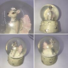 Gisela Graham Ballet Deer Snow Globe Pink Girl Birthday Christening Xmas Gift