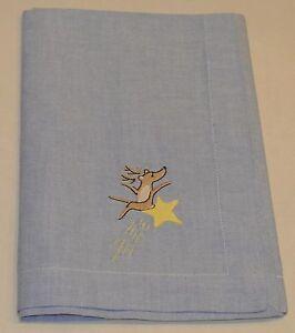 2 Pottery Barn Reindeer Hand Towel Napkin Comet Star Kitchen Bath Christmas Kids