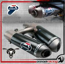 Termignoni Carbon Ducati Hypermotard 1100 07>13 80dB Approved Slip On Exhausts