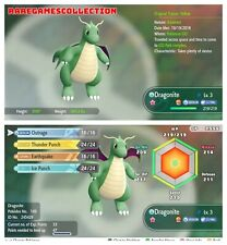Pokemon Let's Go Pikachu & Eevee ✨ SHINY ✨ 6 IVs 3 LEVEL DRAGONITE FAST DELIVERY