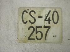 SPAIN CASTELLON LAMBRETTA VESPA MOPED MOTORCYCLE 1970s # CS-40 257 LICENSE PLATE