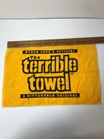 """NICE MYRON COPE'S OFFICIAL """"THE TERRIBLE TOWEL"""" PITTSBURGH STEELERS VGC"""