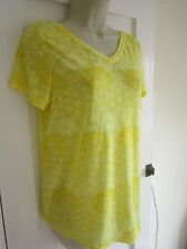 Ladies size 10 George yellow floral summer v neck tunic top