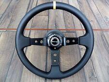 Mercedes Benz Sport Deep Dish AMG Leather Steering Wheel 350MM W123 W124 W201