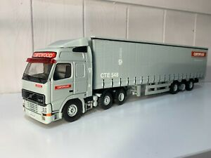 TEKNO CAVEWOOD VOLVO FH & CURTAINSIDE TRAILER 1:50 SCALE NEW