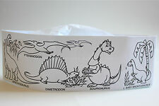 Color Me Paper Soda Jerk Hats 20 Pack Dinosaur And Zoo