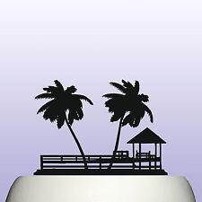 Acrilico TROPICAL ISLAND Paradise E PALMA COMPLEANNO CAKE TOPPER DECORAZIONE