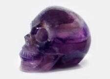 Kristallschädel, Skull,  Regenbogen-Fluorit, 900 Gramm