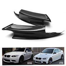 2PCS Carbon Fiber Front Bumper Lip Splitter Spoiler For BMW 07-12 E92 E93 M3