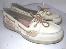 Sperry Top-sider Womens Angelfish Boat Shoes Oatpinic Plaid 9303108 Sz 7.5 M