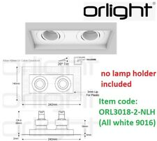 ORLIGHT ORL3018-2-NLH Recessed Twin Trimless Magnetic No lamp holder All white 9