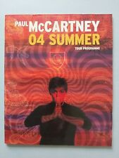 Paul McCartney O4 SUMMER Tour Program  BEATLES