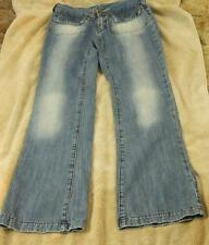 Miss Sixty Size 25 Distressed Blue Jeans Straight Leg Womens